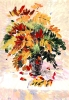 Цветы гуашь осень